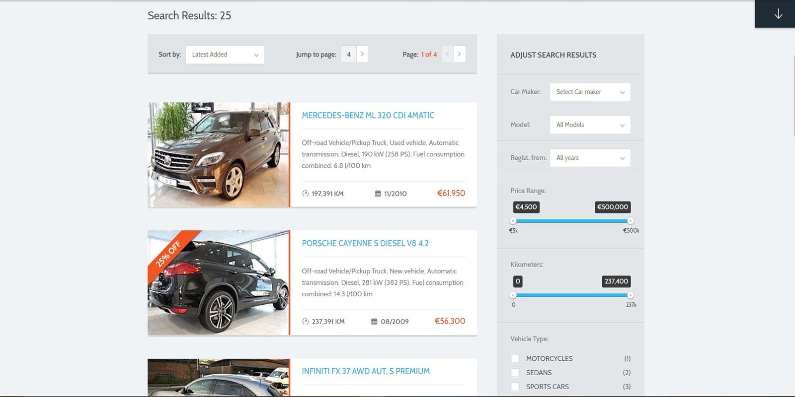 Web Design for Car Dealer