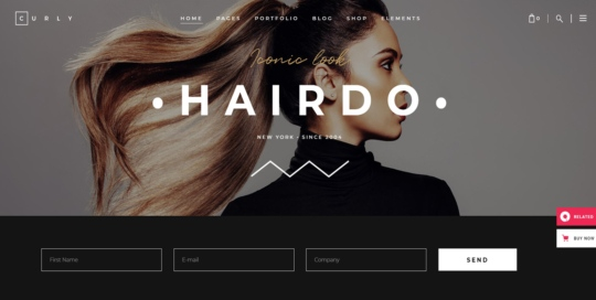 Hair Salon Website Sample