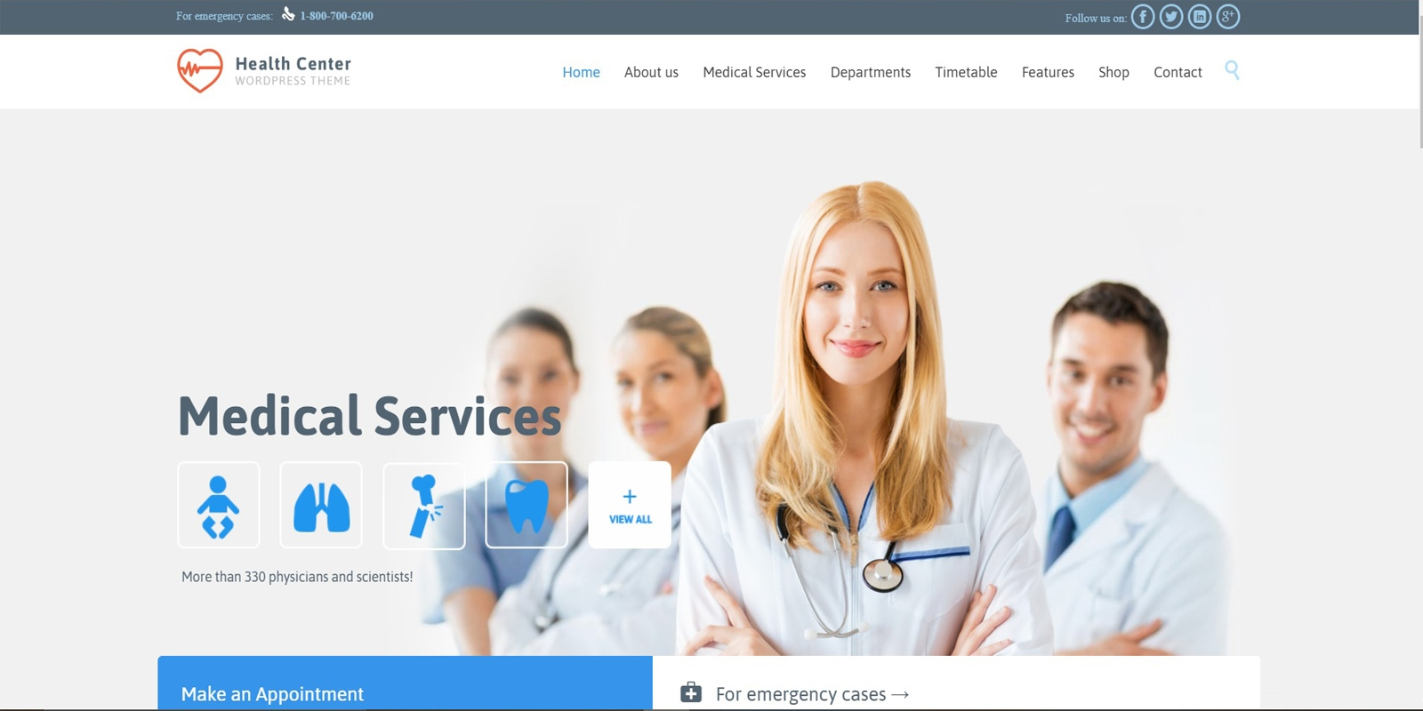 Web Design for Booking Patients